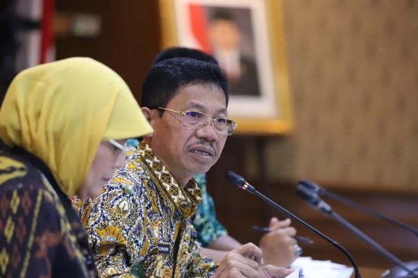 Wakil Wali Kota Tangerang Sachrudin saat presentasi dan wawancara Top 99 Inovasi Pelayanan Publik di Kementerian PANRB
