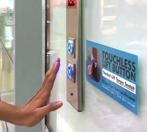 Touchless Lift Button.